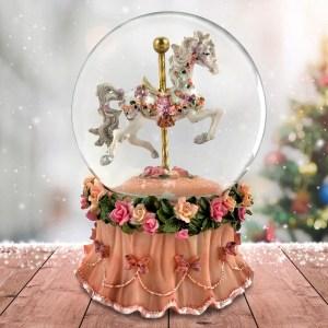 Carousel-Horse-Globe-Pink-Base