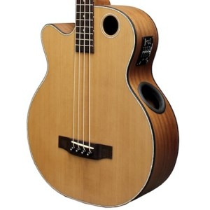 Boulder Creek Guitar, Acoustic Bass Cedar Top Lefty EBR3-N4LH