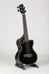 Riptide Ukuele, Tenor Black Cutaway Acoustic-Electric ECUT-5BKS