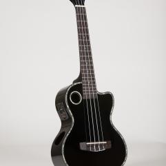 Riptide Ukuele, Tenor Black Cutaway Acoustic-Electric ECUT-5BK