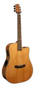 Boulder Creek Guitar, Solitaire Cutaway Cedar ECR3-N