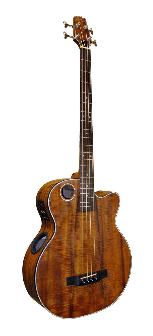 Boulder Creek Guitar, Acoustic Bass Koa EBR6-N4