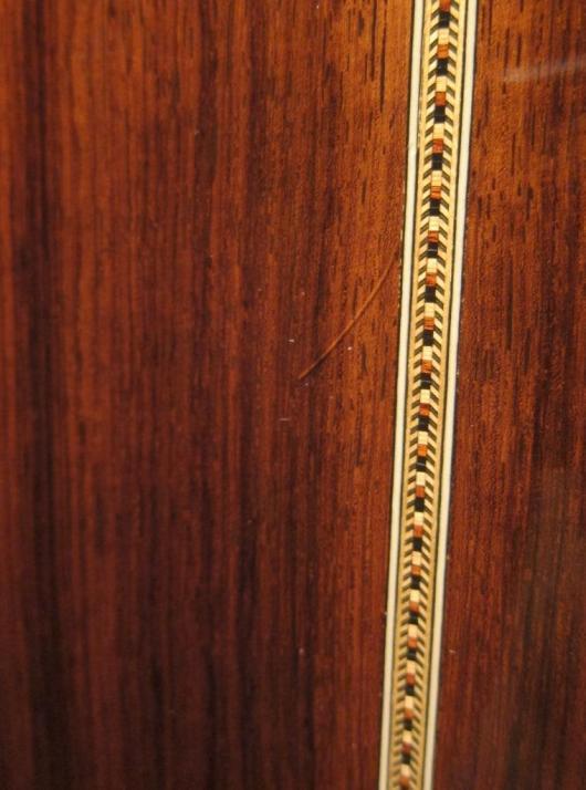 Santa Cruz Guitar Model D lacquer check