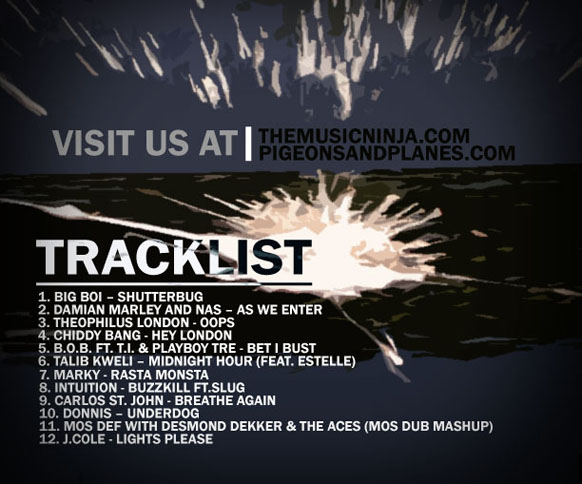 THE HIP HOP ALLEY COLAB MIXTAPE_BACK