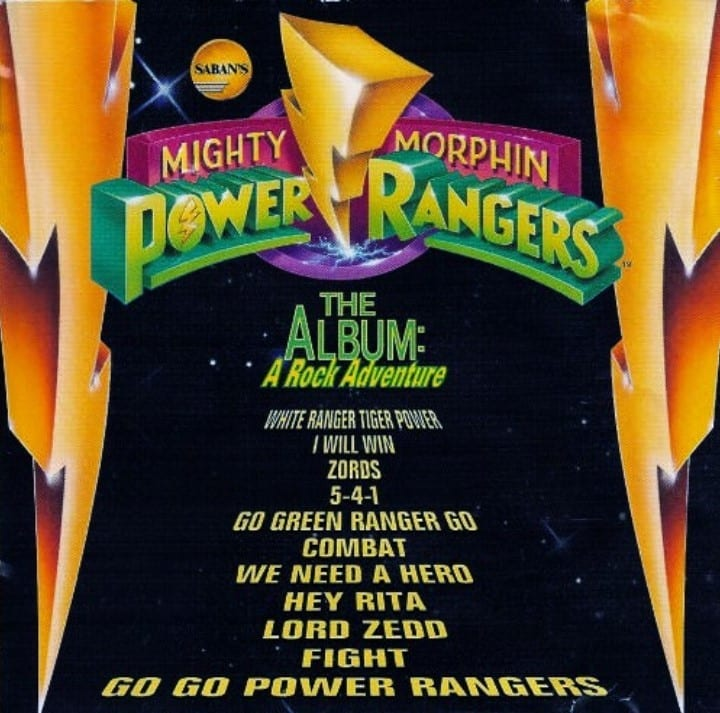Mighty Morphin' Power Rangers - The Album A Rock Adventure (1994) CD 5
