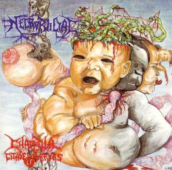 Necrophiliac - Chaopula Citadel Of Mirrors (1992) CD 9