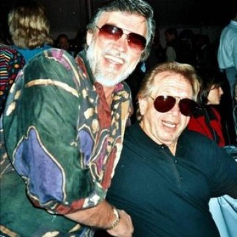 Homer Joy at left with Buck Owens. Photo courtesy of Stephanie Marko