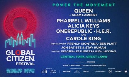 Queen + Adam Lambert, Pharrell among 2019 Global Citizens Fest headliners