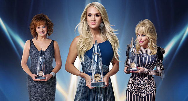 Carrie Underwood, Reba McEntire, Dolly Parton