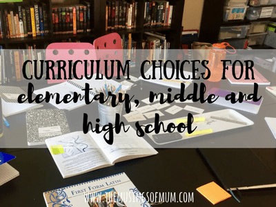Curriculum Choices For Elementary Middle And High School | The Musings of Mum