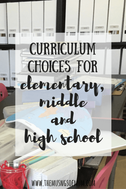 Curriculum Choices - The Musings of Mum