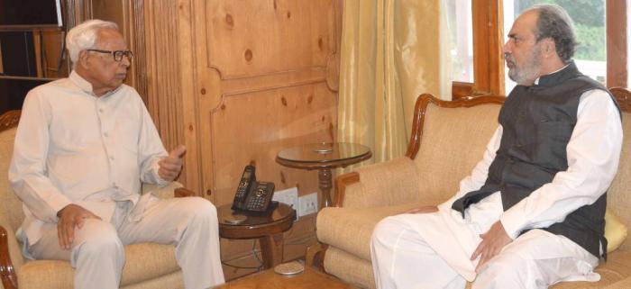 Muzzafar Baig meets Governor