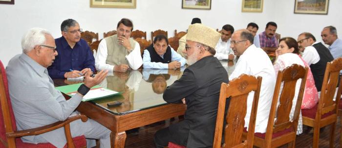 Delegation of All J&K Panchayat Conference meets Governor