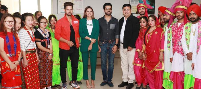 Punjabi Stars Binnu Dhillon, Sargun Mehta & TV Actor Ravi Dubey enthralls Aryans Students