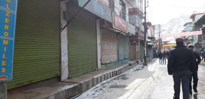 Kargil Observed Complete Bandh on call of Coordination Committee