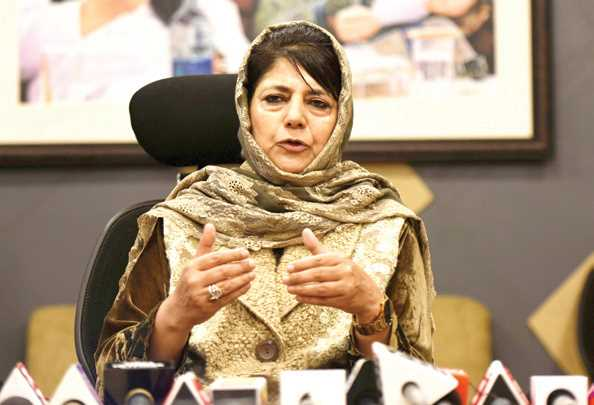 Mehbooba Mufti hold candle light March