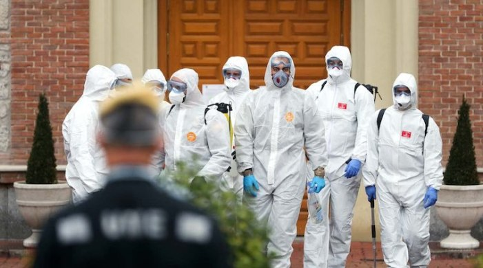 Spanish army finds abandoned nursing home residents with bodies of Covid-19 patients