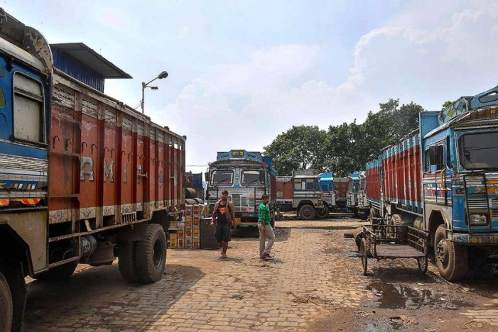 Transporters on strike as fresh COVID-19 guidelines come into effect in J-K