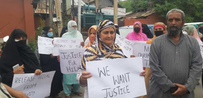 Family of missing Scholar yet again stages protest 'Intelligence inputs can't be refuted: Police