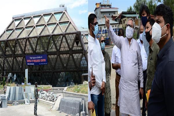 Advisor Khan takes stock of renovation works at Bakhshi Stadium, Indoor Stadium