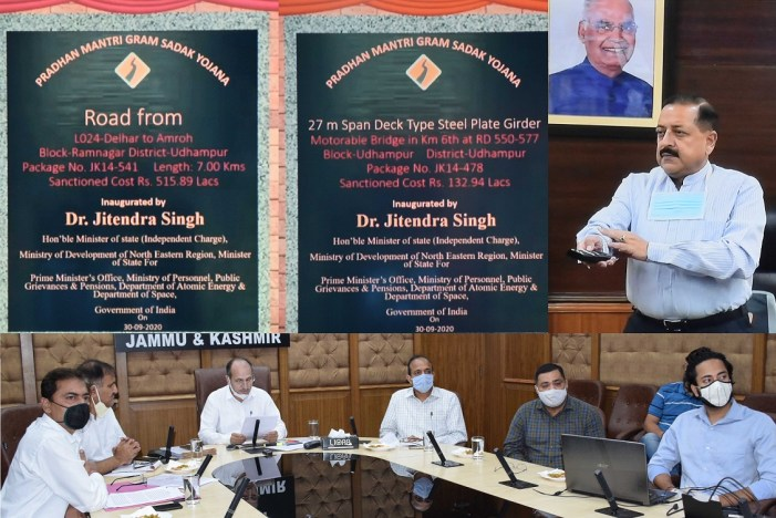 Dr Jitendra e-inaugurates PMGSY roads, bridges in J&K