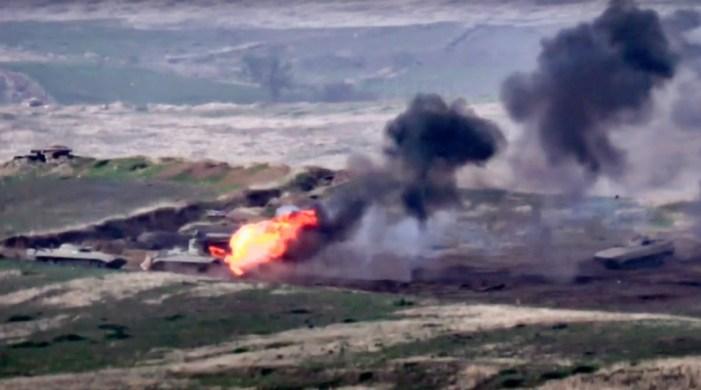 16 soldiers among eighteen killed as fighting erupts between Armenia and Azerbaijan