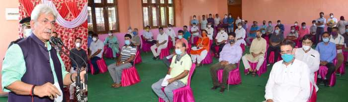 Lt Governor visits Jagti Township, listens to the issues of KPs