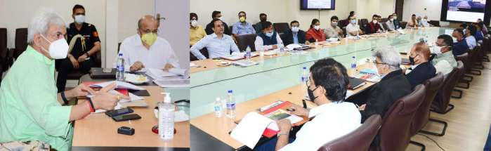 Lt Governor reviews Mega Infrastructural Projects of Kashmir Division