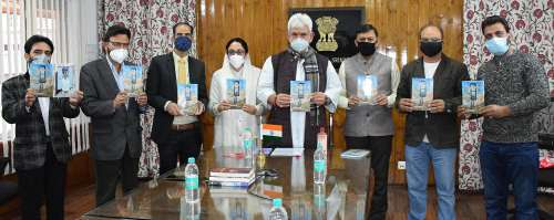 """Lt Governor releases """"Ahsasan Hunde Sheeshe Khane""""- a Poetry collection by Dr. Darakhshan Andrabi"""