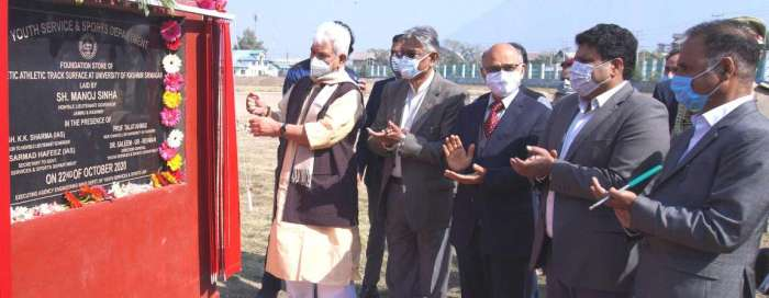 Lt Governor visits University of Kashmir  Inaugurates new Administration Block worth Rs 14.58 cr, Multipurpose Gymnasium Block costing Rs 2.35 cr