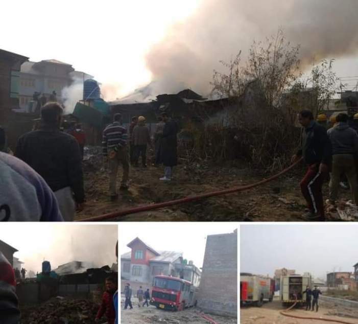 House gutted, another damaged partially in Eidgah blaze