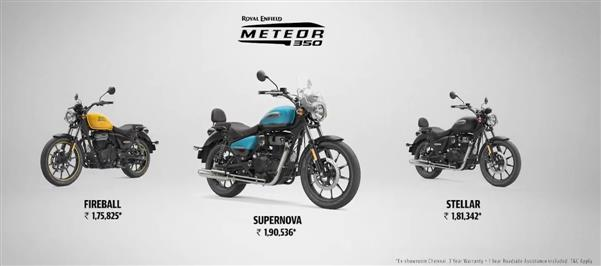 Royal Enfield launches all-new cruiser bike Meteor 350