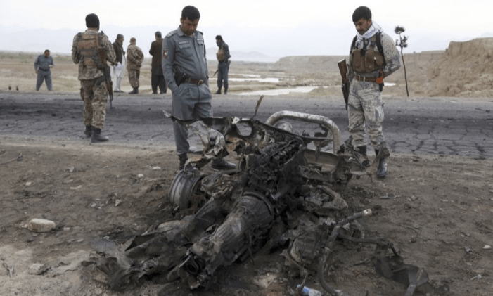 Two Afghan army officers killed by roadside bomb