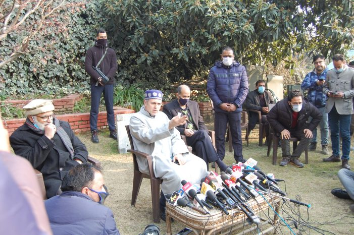 Admin using police to force winning candidates of Gupkar Alliance join Apni Party, alleges Omar Abdullah
