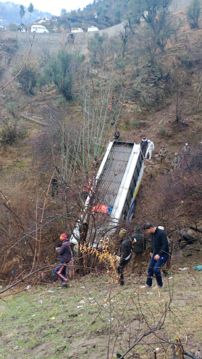 11 injured as passenger bus rolls down into gorge in Doda; 2nd mishap of the morning in J&K