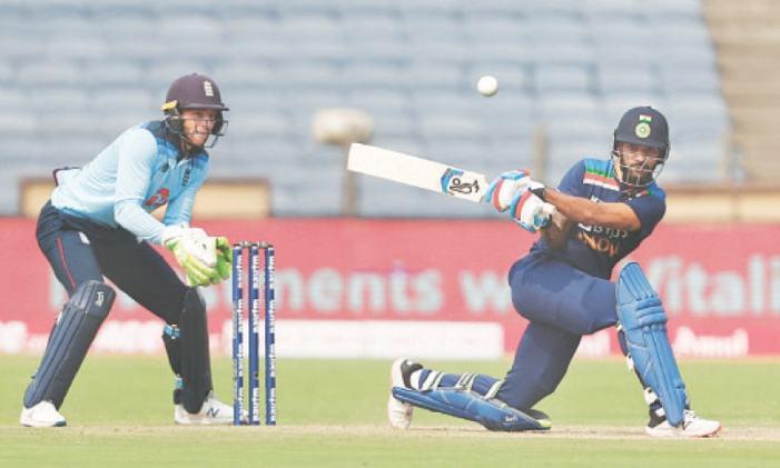 Dhawan, Krishna help India derail England in first ODI