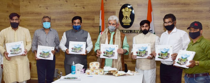 "Lt Governor releases Coffee Table book ""Chenab (Chandrabhaga) Valley-Amazing Little Kashmir"""
