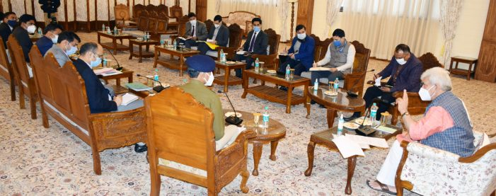 Lt Governor chairs meeting of all DCs of Kashmir Division