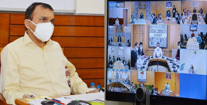 Principal Secretary to Lt Governor chairs meeting of all DCs