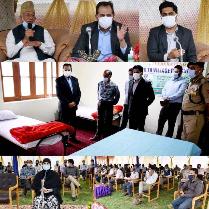 Advisor Baseer Khan reviews Covid mitigation in Bandipora, inspects CCCs, meets Civil Society members, religious Heads
