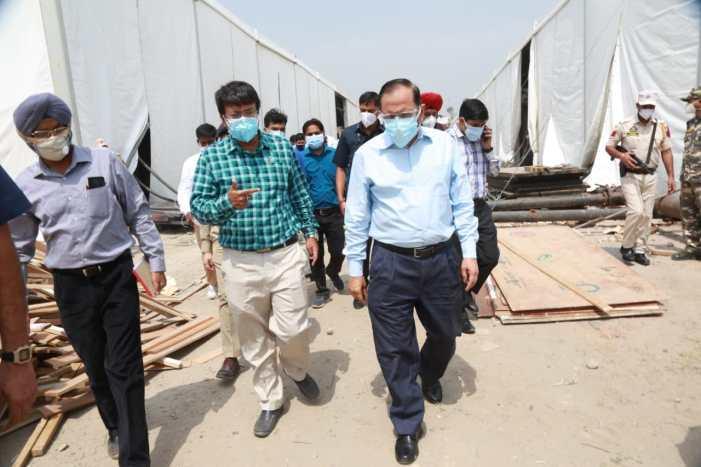 Advisor Bhatnagar inspects ongoing works at upcoming DRDO Hospital Jammu