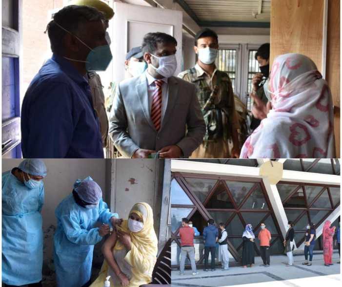 DC Srinagar inspects Covid-19 vaccination sites at various Medical Blocks