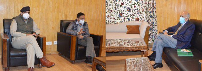 MP Justice Hassnain Masoodi visits Shopian