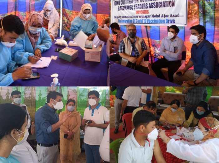 DC Srinagar inaugurates Mega Vaccination Mela at Panthachowk, Batamaloo, Pratap Park