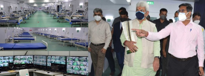 Lt Governor inaugurates DRDO's 500-bedded COVID Hospital at Khonmoh