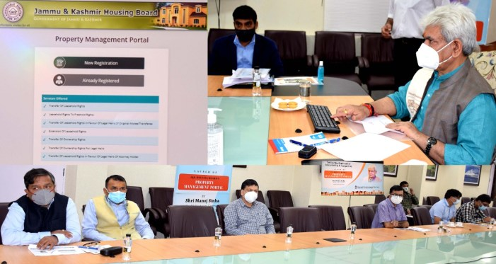 Lt Governor launches J&K Housing Board's Property Management Portal