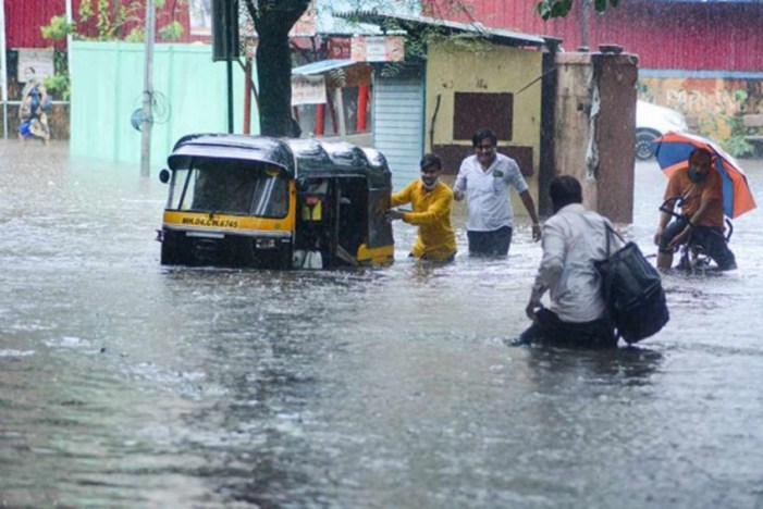 Flash floods damages some houses in low lying areas of Jammu
