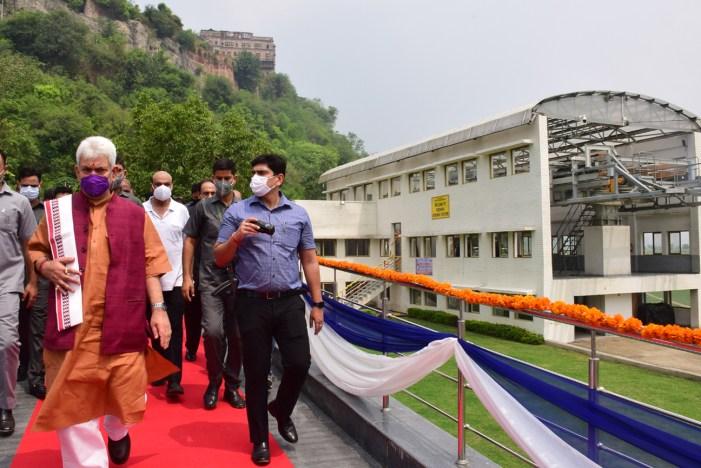 Lt Governor inaugurates much-awaited 1.18 km long Peerkho-Mahamaya section of Jammu ropeway