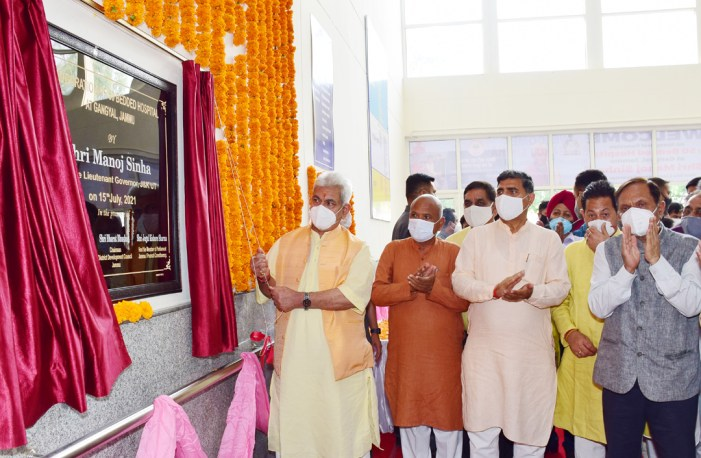 Lt Governor dedicates Rs 11.50 cr worth 100-bedded Emergency Block at GMC Jammu to the people