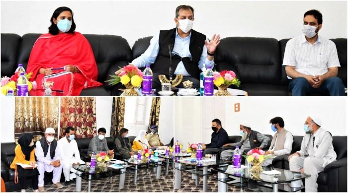 Advisor Baseer Khan reviews developmental works, other activities at G'bal